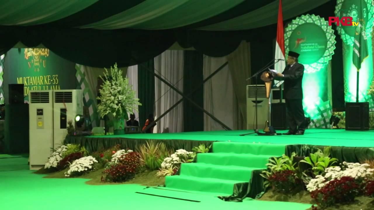 Pidato KH. Said Aqil Siradj Di Pembukaan Muktamar NU Ke 33