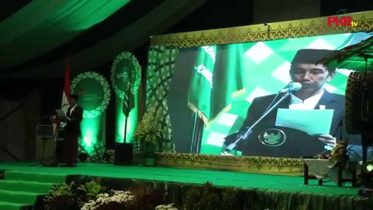 Presiden Jokowi Buka Muktamar NU ke- 33
