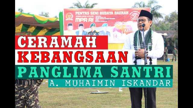Pesan Panglima Santri Pada Apel Akbar Santri Se-Provinsi Riau