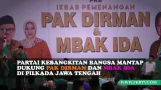 Ikrar Pemenangan Pak DIrman & Mbak Ida For Jateng