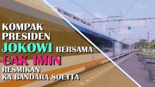 Kompak, Cak Imin Dampingi Presiden Jokowi Resmikan KA Bandara Soetta